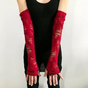 Trixy Xchange Red Zombie Long Gloves